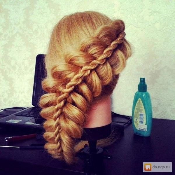 Красивые прически из кос на длинные волосы
