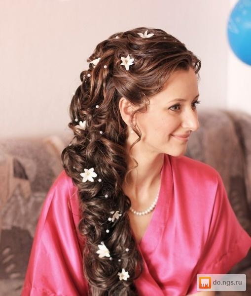 Прически коса свадьба
