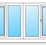 Лоджии Пластиковые Одностворчатые профиль 58мм стеклопакет 24мм, Иркутск