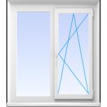 Окна пвх двустворчатые профиль  алюминиевый 58мм стеклопакет 24мм, Иркутск