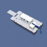 Катамаран грузопассажирский, катамаран для работ на воде, водная вахта, Иркутск