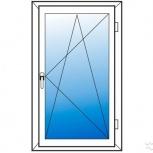 Окна пвх одностворчатые профиль 58мм стеклопакет 32мм, Иркутск