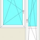 Балконный блок Пластиковые Одностворчатые профиль 58мм стеклопакет32мм, Иркутск