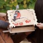Кормушка (скворечник) для птиц с местом для декупажа, Иркутск