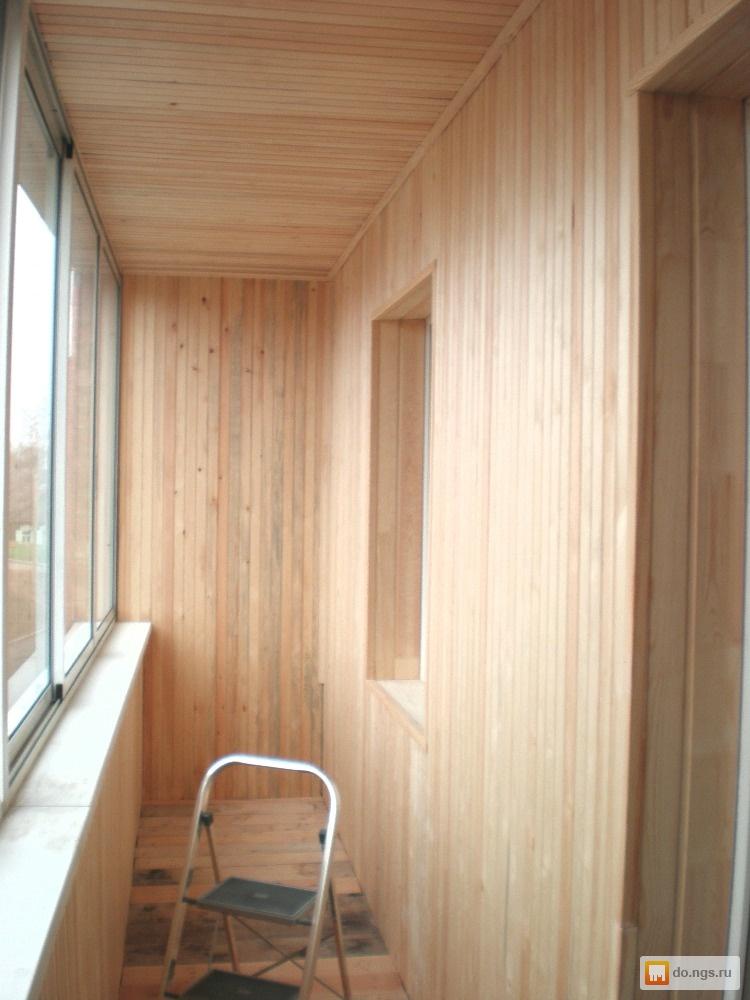Иркутск - обшивка балкона лоджии вагонкой монтаж пола.